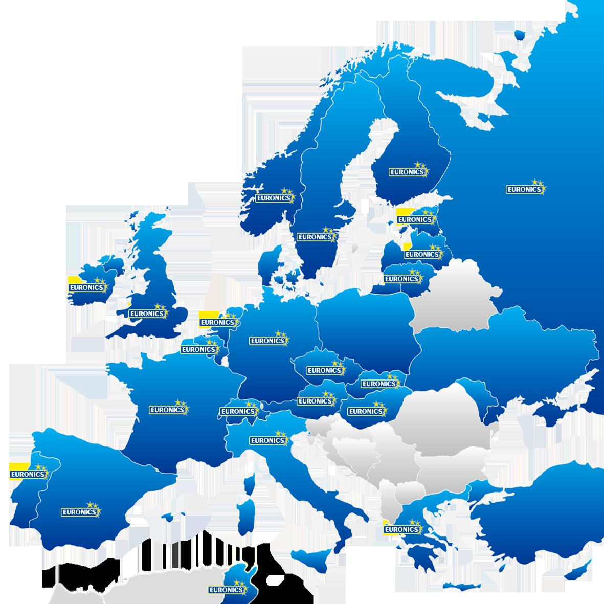 EURONICS International Map